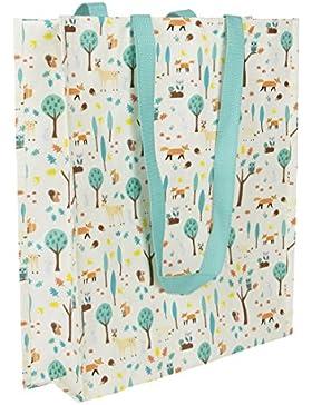 Sass & Belle Kunststoff Einkaufen Umhängetaschen Tote Bag - Whimsical Wald Woodland