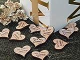 X25personalisierbar Holz rustikal hartholz Herzen 25mm, für, Tischdekorationen, Vintage Hochzeiten