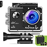 Review XP C200 Action Camera 4K 16MP Ultra HD Sports Waterproof Wi-Fi 170 Wide Angle Lens DV Digital Camcorder 2.4g Remote Control, 2 Batteries 1050mAh, 20+ Mounting Kits + Carrying Case - Black