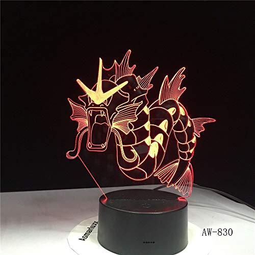 Dinosaurier Drachen Horn Licht 3D USB LED Farbe Nachtlicht Tier Tischlicht Festival Dekoration Kinder Spielzeug Neuheit Geschenk Luftschiff 830