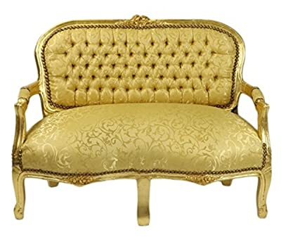 Casa Padrino Baroque Children Bench Leopard / Gold Antique Style Kids sofa