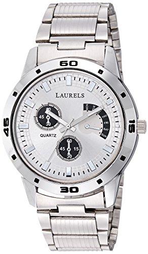 Laurels Matrix Analogue Silver Dial Men's Watch - Lo-Mtx-0707