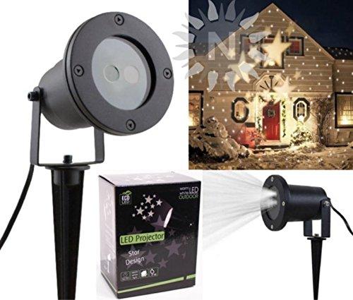 iss 5 Schablonen Licht Projektor Weihnachten Herzen Schneeflocken Halloween Projektorslampe Effektlicht Haus Lichter Außen Outdoor (Outdoor-licht-projektor Halloween)