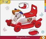 #7: Kross 2 in 1 Green Horse Rocker Cum Ride On Toy for Kids - Multi Color