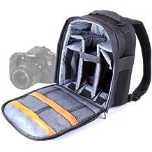 DURAGADGET Mochila Resistente Con Compartimentos Para Cámara Canon EOS 700D /70D / 7D Resistente Al Agua + Funda Impermeable ¡Perfecta Para Fotografiar Bajo La Lluvia!