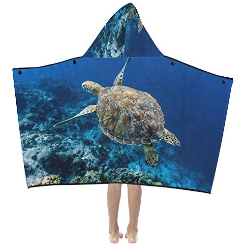 a Turtle Soft Warm Cotton Blended Kids Dress Up Hooded Wearable Blanket Bath Towels Throw Wrap For Toddlers Child Girls Boys Size Home Travel Picnic Sleep Gifts ()