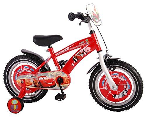 """Disney Cars McQueen 14 14\"""" Zoll Fahrrad Kinderfahrrad Kinder Rad Jungenfahrrad VOLARE"""
