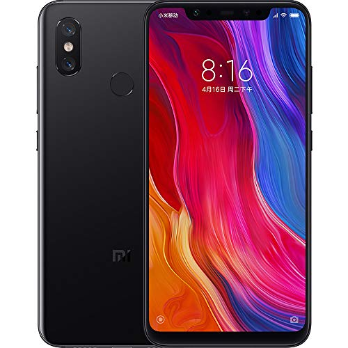 Xiaomi 128GB Chinese Version Black - Xiaomi mi 8 Dual Sim 4G LTE 128GB ROM 6GB RAM- Chinese Version Black