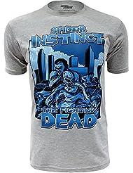 """SPIDER INSTINCT Tee shirt """"The Fighting Dead"""" I Sportswear Zombie The Walking Dead"""