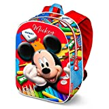 Karactermania Mickey Mouse Crayons-3D Backpack (Small) Kinder-Rucksack, 31 cm, 8.5 liters, Rot (Red)
