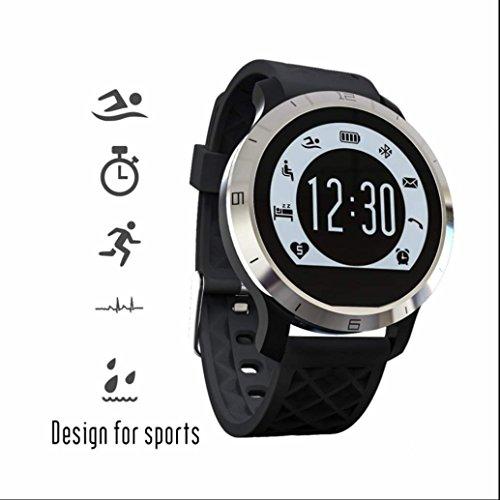 Pulsmesser Fitness Armband Aktivitätstracker Fitnessarmband Wasserdicht Smart Watch Mit Schrittzähler Kalorienverbrauch Kilometerzähler Bluetooth Sport Fitness Armband Für Android Und Ios Handy