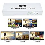 #10: Ultima™ Premium Quality 1080P HDMI 4X1 Quad Multi-Viewer Switch with Seamless Switcher IR Control Display 4HD Video Signal on The Same Screen.