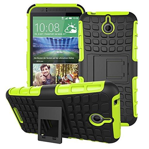 HTC Desire 510 Hülle, SsHhUu Premium Rugged Stoßdämpfung & Staubabweisend Kompletter Schutz Hybrid-Koffer mit Ständer Telefon Kasten für HTC Desire 510 4.7 Zoll (Grün) 510 Htc Telefon-kästen