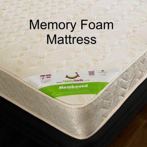Happy Beds Stella Cabin Bed Low Sleeper Blue Storage Kids Memory Foam Mattress 3' Single 90 x 190 cm