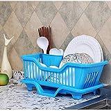 Vrizon Plastic Kitchen Sink Dish Drainer Drying Rack Washing Holder Basket