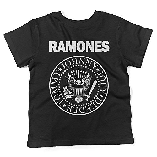 LaMAGLIERIA Camiseta para bebés Ramones - Baby T-Shirt Rock, 12-18 Meses, Negro
