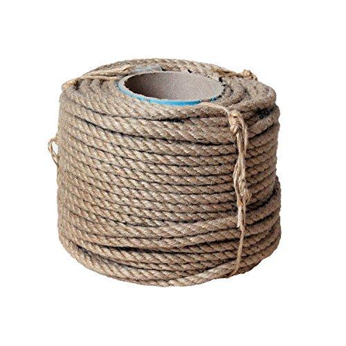 Natur Sisal Leine Seil Sisalseil auch für kratzbaumseil Kratzbaum Katzenbaum Naturprodukt Hanf Jute Tau Seil Tauziehen Absperr seil (50 Meter Ø 10 mm)