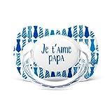 Suavinex Schnuller, Motiv Ich liebe Dich Papa Krawatte Blau 0/6Monate