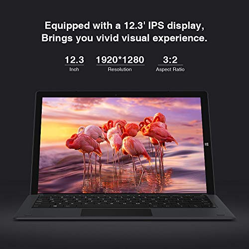 CHUWI UBook Pro Tablets pc con Teclado Tableta 2 in 1 de 12.3 Pulgadas Windows 10 (Intel Gemini- Lake N4100 ) 4- Core hasta 2.4GHz 1920*1280 IPS 8GB RAM 256GB SSD,  5000mAh, WiFi,  HDMI,  Type- c,  M.2