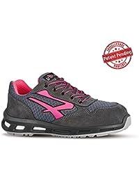 U de Power Zapatilla de Prueba imonial Grip S3SRC Zapato de Seguridad para Hombre, Color Negro, Talla 43 EU
