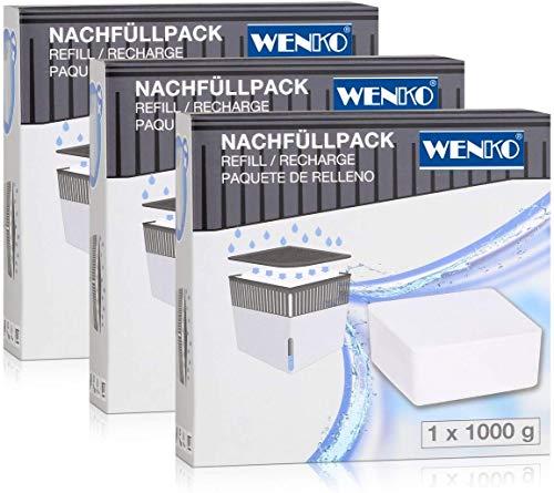 WENKO 69268800 Raumentfeuchter Cube 1000 g Luftentfeuchter-Nachfüller, Weiß