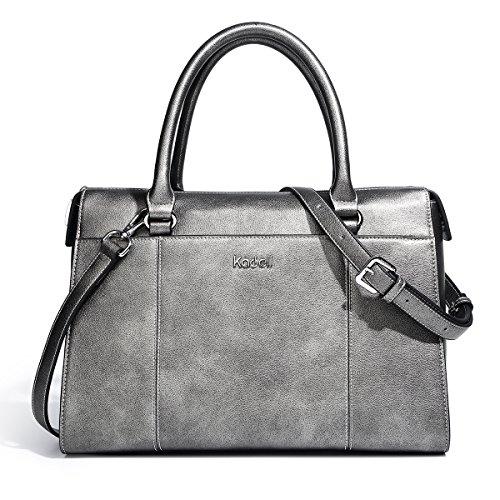 aae4509fdf5ad Kadell PU Leder Frauen Handtaschen für Damen Luxus Top Griff Schulter  Geldbörse Nickel schwarz Nickel schwarz ...