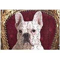 Francese Bull Dog (Bianco) Cane Grande puzzle