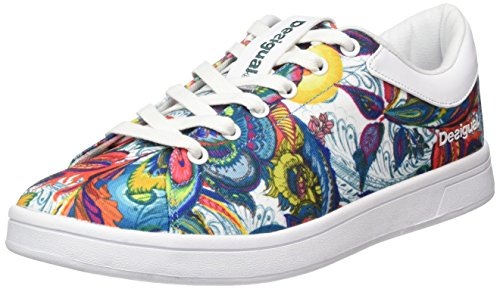 Schuhe Desigual Shoes Court Galactic Bloom 17WKRW29 1000 Weiß (White)