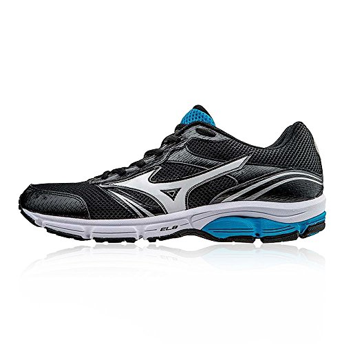 check out 10fa9 a32c4 Mizuno Chaussures de Running Wave Impetus 3 Noir Blanc Bleu EU 39 (US