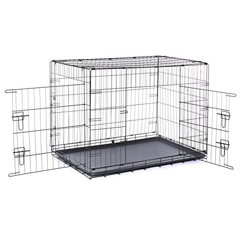 Dibea Cage avec 2 Portes Pliable/Transportable avec...
