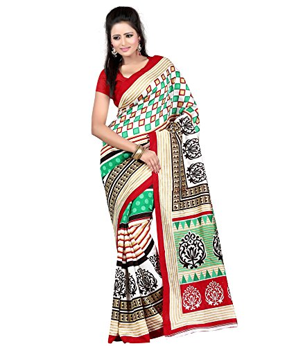 Women's Clothing Saree Designer Party Wear Buy Online in Low Price Sale Offers Multi Color Color Art Silk Fabric Free Size Sari With Unstitched Blouse  available at amazon for Rs.259