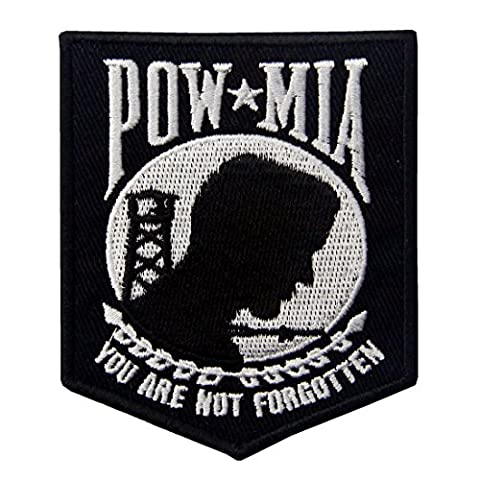POW MIA You Are Not Forgotten Emblem Embroidered Iron On Sew On Patch