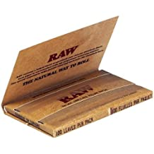 5 x RAW Single Wide Double Pack Rolling Papers 70mm 100 Papers/Pack by RAW