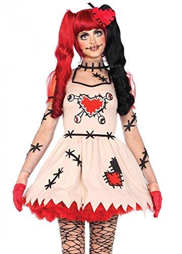 Leg Avenue Damen-Kostüm Voodoo Cutie, - Sexy Voodoo Puppe Kostüm