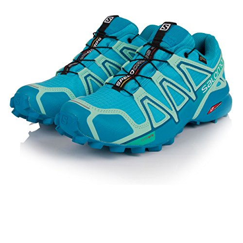 Salomon Damen Speedcross 4 GTX Trailrunning-Schuhe Aquarius Beach Glass Hawaiian Surf