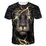 3D Imprimé T-Shirt à Manches Courtes T-Shirts,Covermason Hommes T-Shirt 3D Creative à Manches Courtes Imprimé Graphique Occasionnel Top Tees Grande Taille M-4XL (Noir, 3XL)