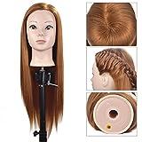Manichino in fibra sintetica 76,2cm Headhairdresser formazione testa bambola manichino Cosmetologia testa con free morsetto Holder