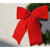 2-Tage-Lieferung: 4x wetterfeste Dekoschleife, Christbaum, Advent, Weihnachten, rote Ganzjahresschleife, Jubiläum