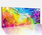 Acrylglasbild 100x40cm abstrakt Kunst bunte Farben Glasbild Bilder Acrylglas Acrylglasbilder Wandbild 14A002, Acrylglas Größe1:100cmx40cm