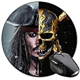 Pirates Of The Caribbean Jack Sparrow Johnny Depp Tapis De Souris Ronde Round Mousepad PC