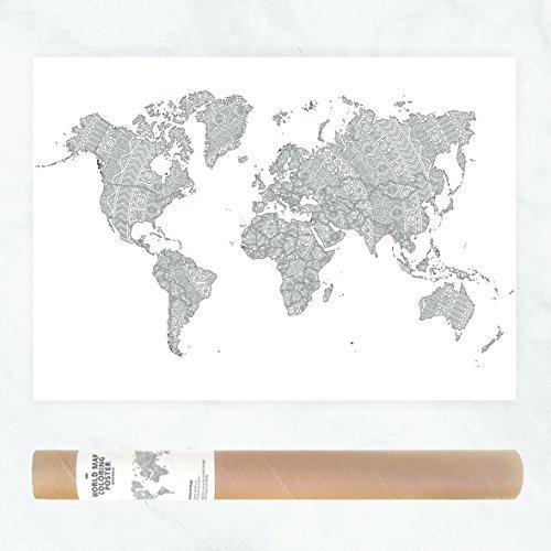 mappa del mondo Poster - gigante colorare