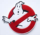 80s GHOSTBUSTERS LOGO Fancy Dress Iron Sew On Patch Tshirt Transfer Motif