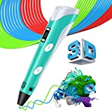 3D Druckstift Stift mit LCD Display, MYSWEETY Intelligenter 3D Printing Pen 3D Drucker Stift +3M 1,75 mm PLA Filament+Sicherheitshalter
