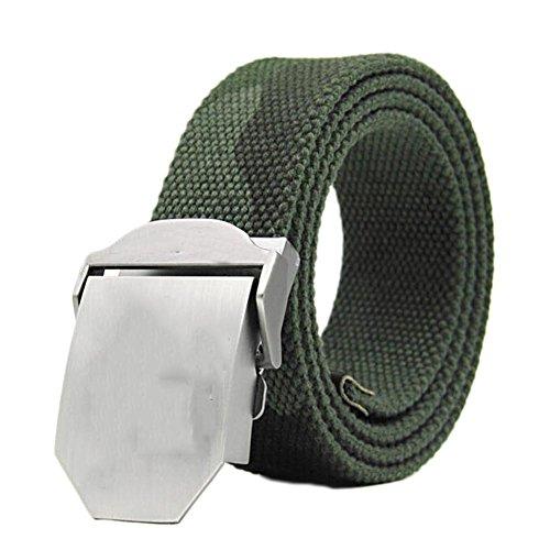 Fancyku Men's Dress Belt Classic Buckle Top Belts Random