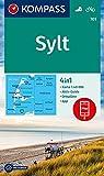 Sylt: 4in1 Wanderkarte 1:40000 mit Aktiv Guide und Ortsplänen inklusive Karte zur offline Verwendung in der KOMPASS-App. Fahrradfahren. (KOMPASS-Wanderkarten, Band 701)