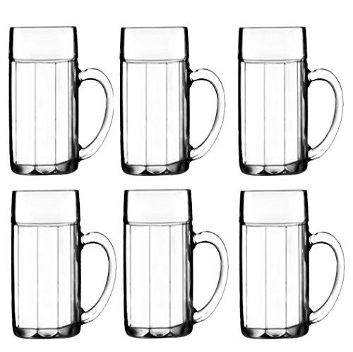 Stölzle Oberglas Bayreuth Bierkrug / Bierglas 0,5 L, Gläser im 6er Set, Biermaßkrug aus Stoßfestem - und Bruchsicherem Glas, Kugelmaßkrug Traditionell Bayrisch, Maßkrug gerippt