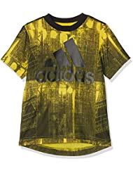 adidas Yb Aa Blo Tee - Camiseta de manga corta para niño, color amarillo, talla 164