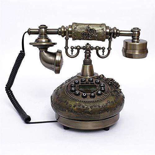 BAIJJ Vintage Style Knopf Zifferblatt Haus und Büro Telefon 1921 Kabel - Modell A - Antik Stil Telefon Metallgehäuse, Funktionsknopf Zifferblatt und Klassische Metallklingel -