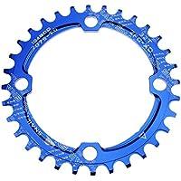 32T plato 104BCD fomtor bicicleta estrecho ancho plato para 91011velocidad, para bicicleta de carretera para bicicleta de montaña MTB BMX (redondo, azul)