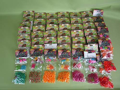 46 Packungen Loom Bänder bunt gemischt über 9000 Gummiringe ***Super-Set*** Preis gilt für das Gesamte Paket (46 Packungen) (Das Gesamte Paket)